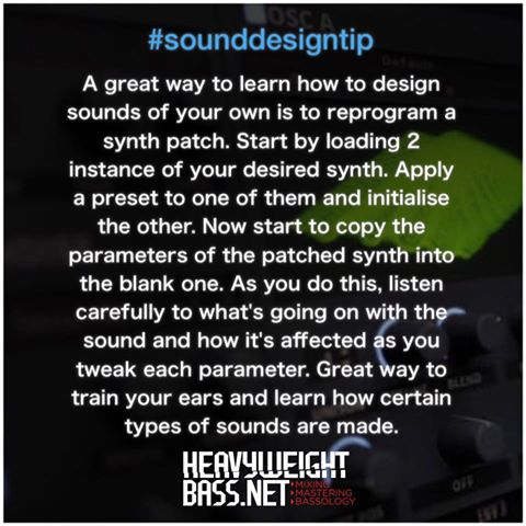 A Quick Sound Design Tip