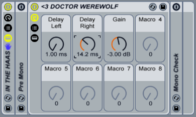 IN THE HAAS WITH DOCTOR WEREWOLF – Free Ableton rack from Doctor Werewolf