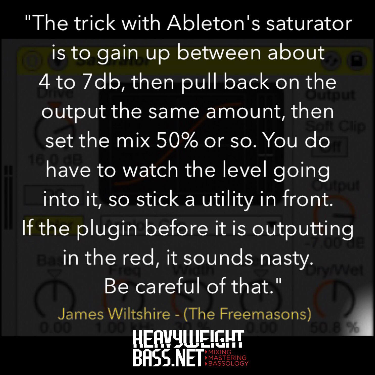 A Quick Tip – Using Ableton's Saturator