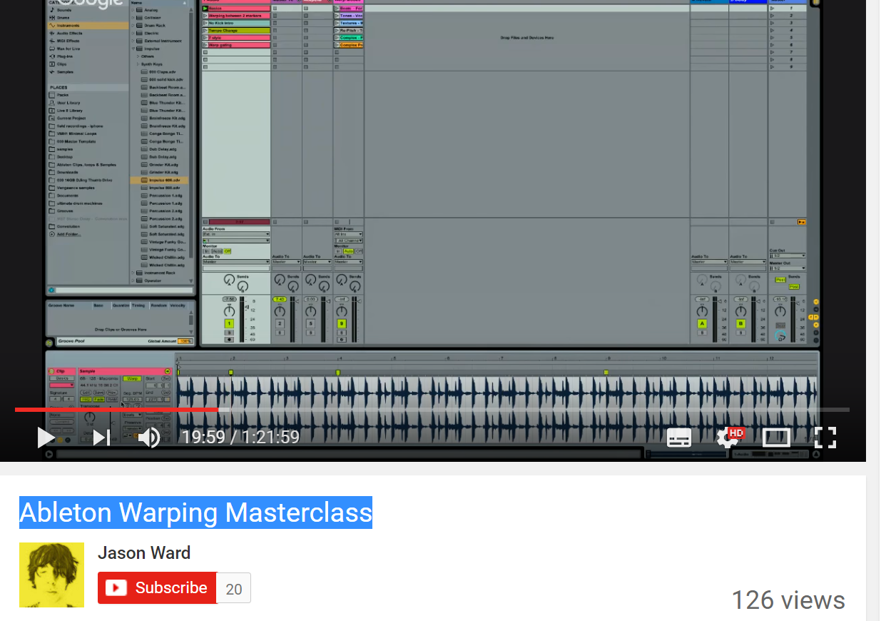 Advanced Warping in Ableton Live With Jason Timothy