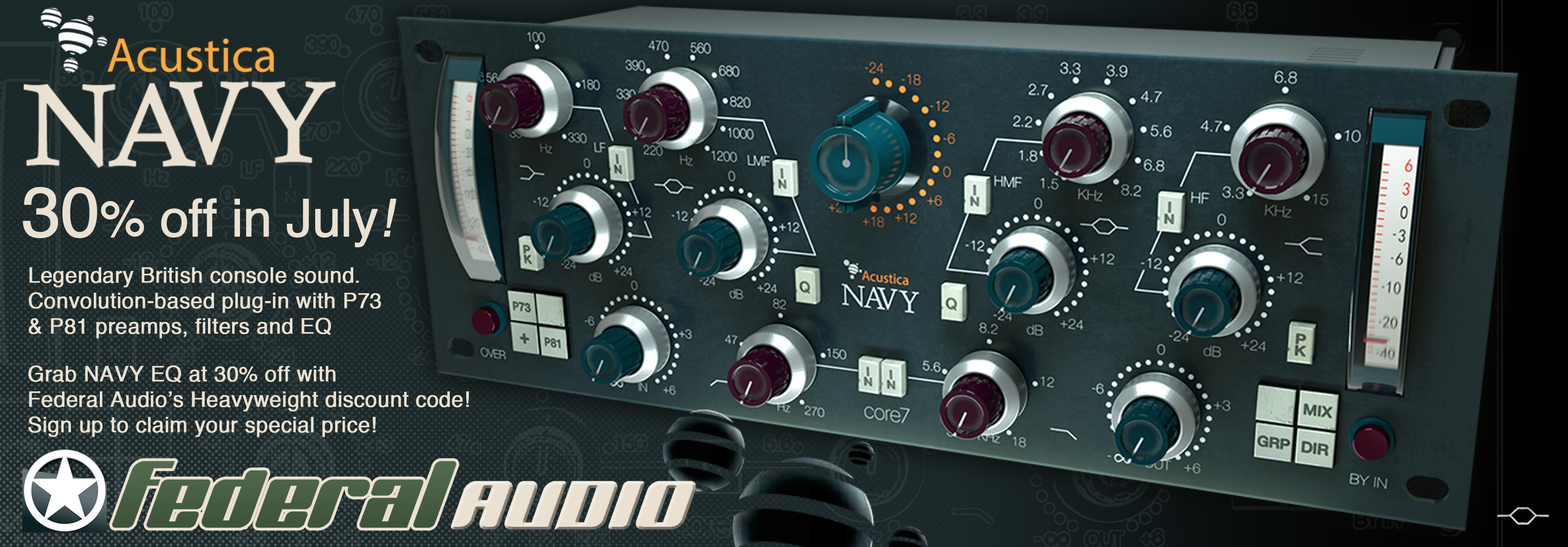 Discounts for Heavyweight Bass Readers on Acustica Plug-ins now from Federal Audio