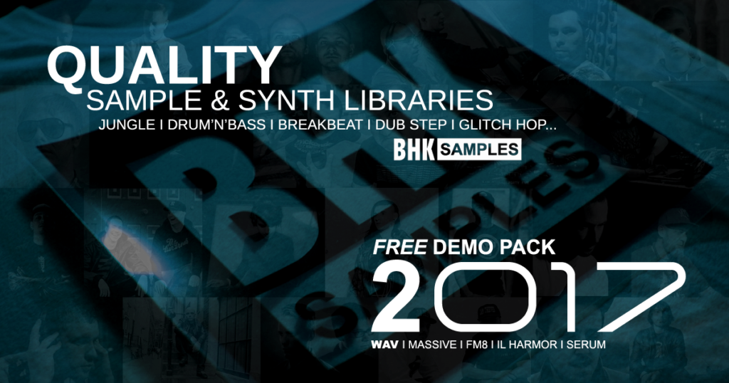 BHK FREE DEMO PACK 2017 – Over 100 Amazing .wav Samples, Synth Presets For Massive, FM8, IL Harmor and Serum