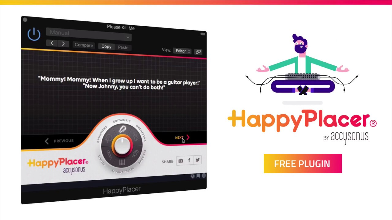 Favourite New Plugin – HappyPlacer®: The world's first plugin that sends music makers to their happy place