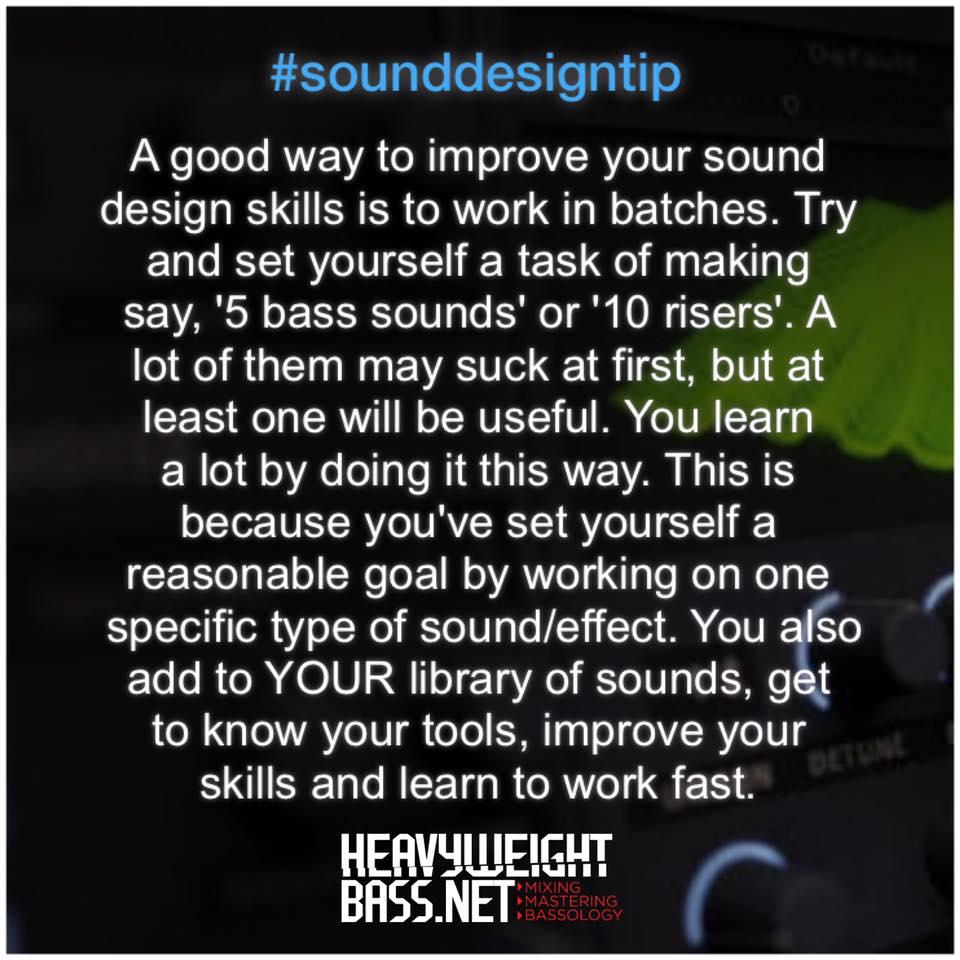A Quick Sound Design Tip – Work In Batches