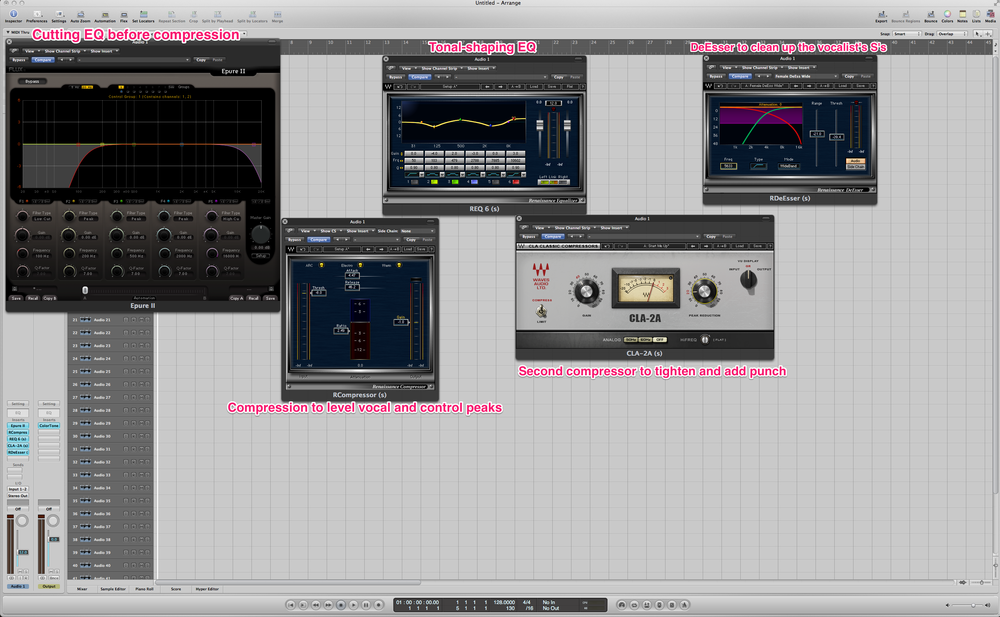Vocal mixing tip – EQ cutting before Compression