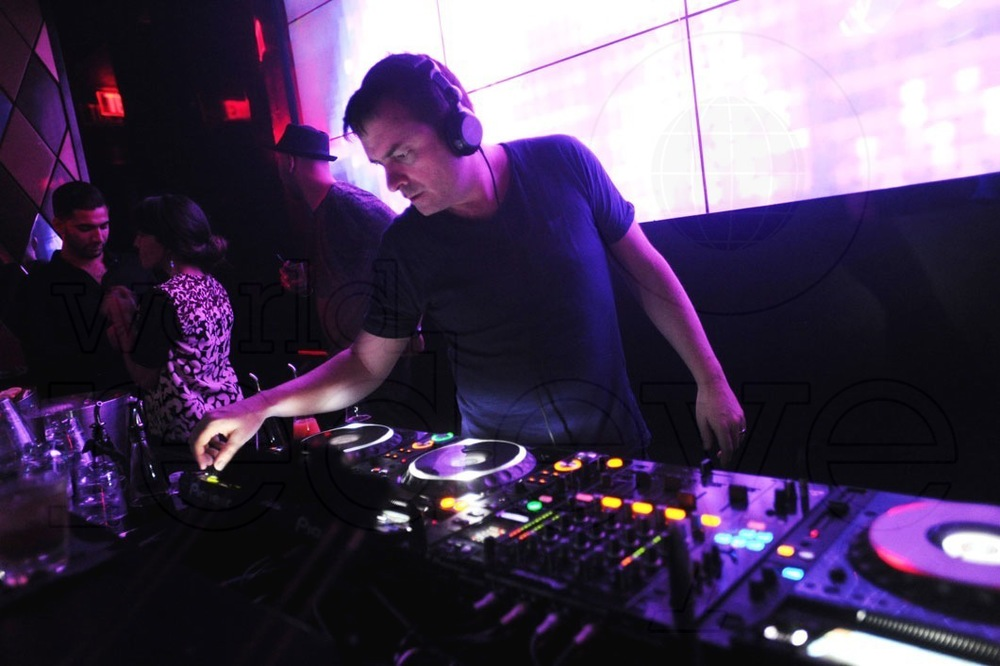 Doing the business at WALL, Miami Beach earlier this year.