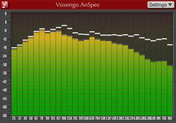 Analog-style spectrumanalysis from Voxengo's AnSpec