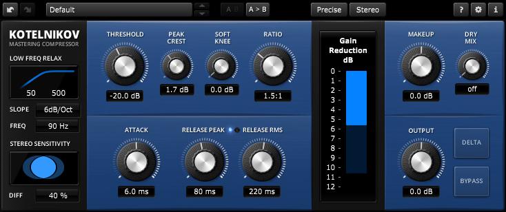TDR Kotelnikov – Free mastering compressor from Tokyo Dawn Records