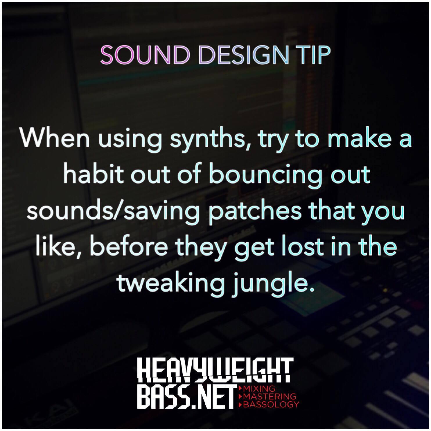 A Quick Sound Design Tip – Save!