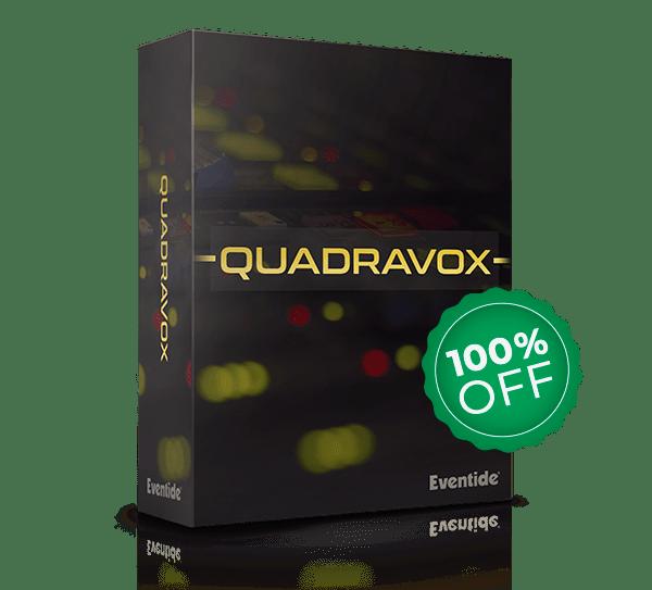 FREE PLUGIN – QUADRAVOX, 4 Voice Pitch Shifting Harmonizer Plugin by Eventide !